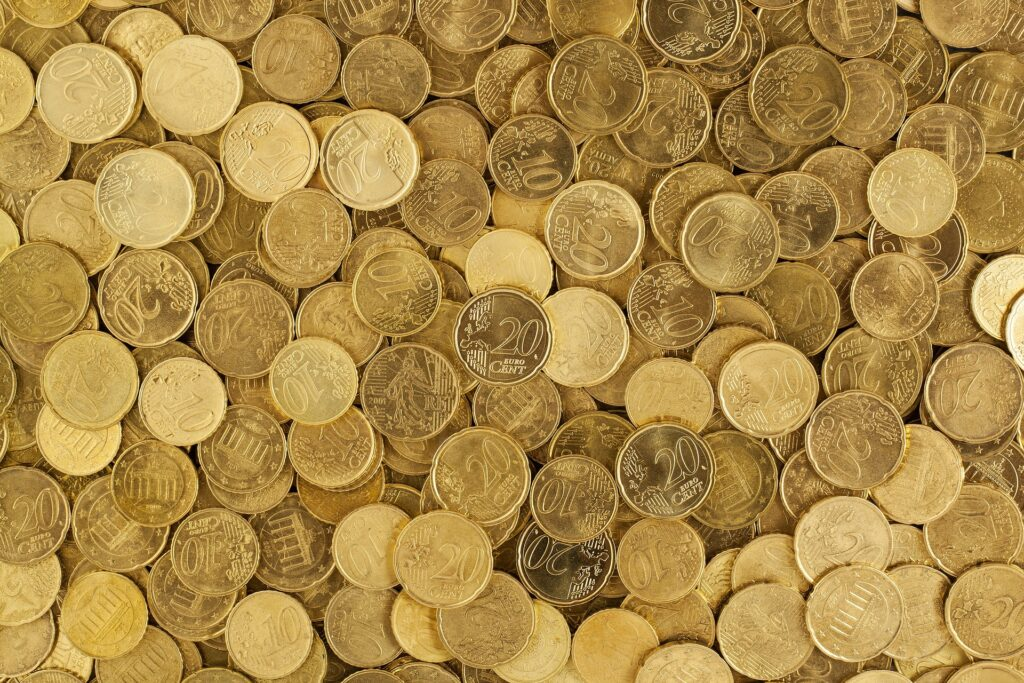 A bunch of cents